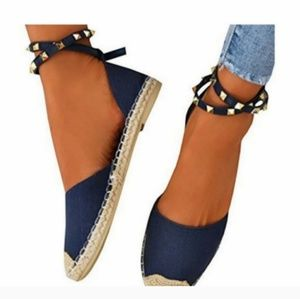 Shoes - BRAND NEW ESPADRILLES / Size 8 / NAVY